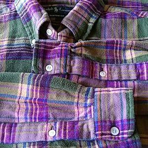 Ralph Lauren button-down plaid cotton flannel M